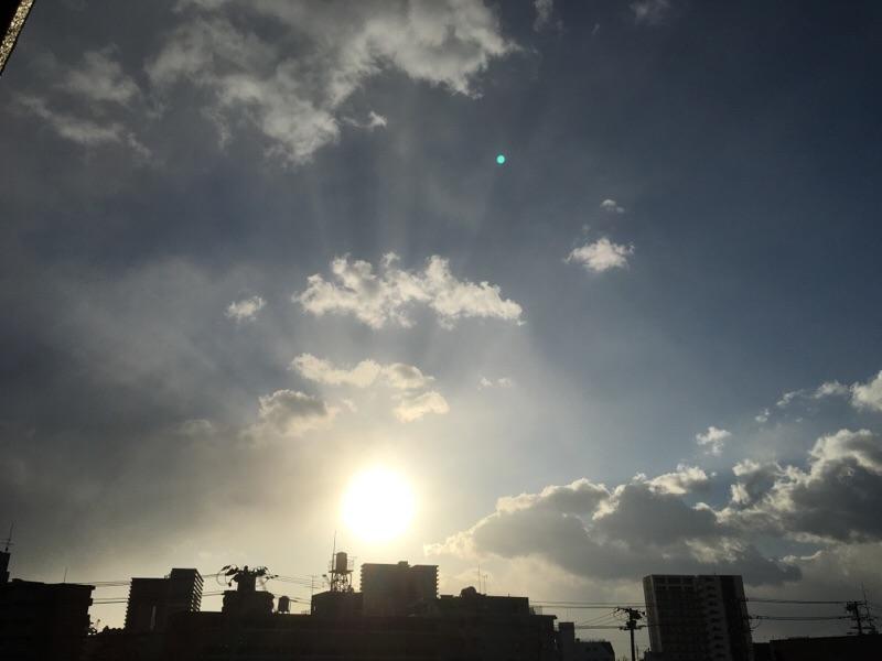 今日は暴風